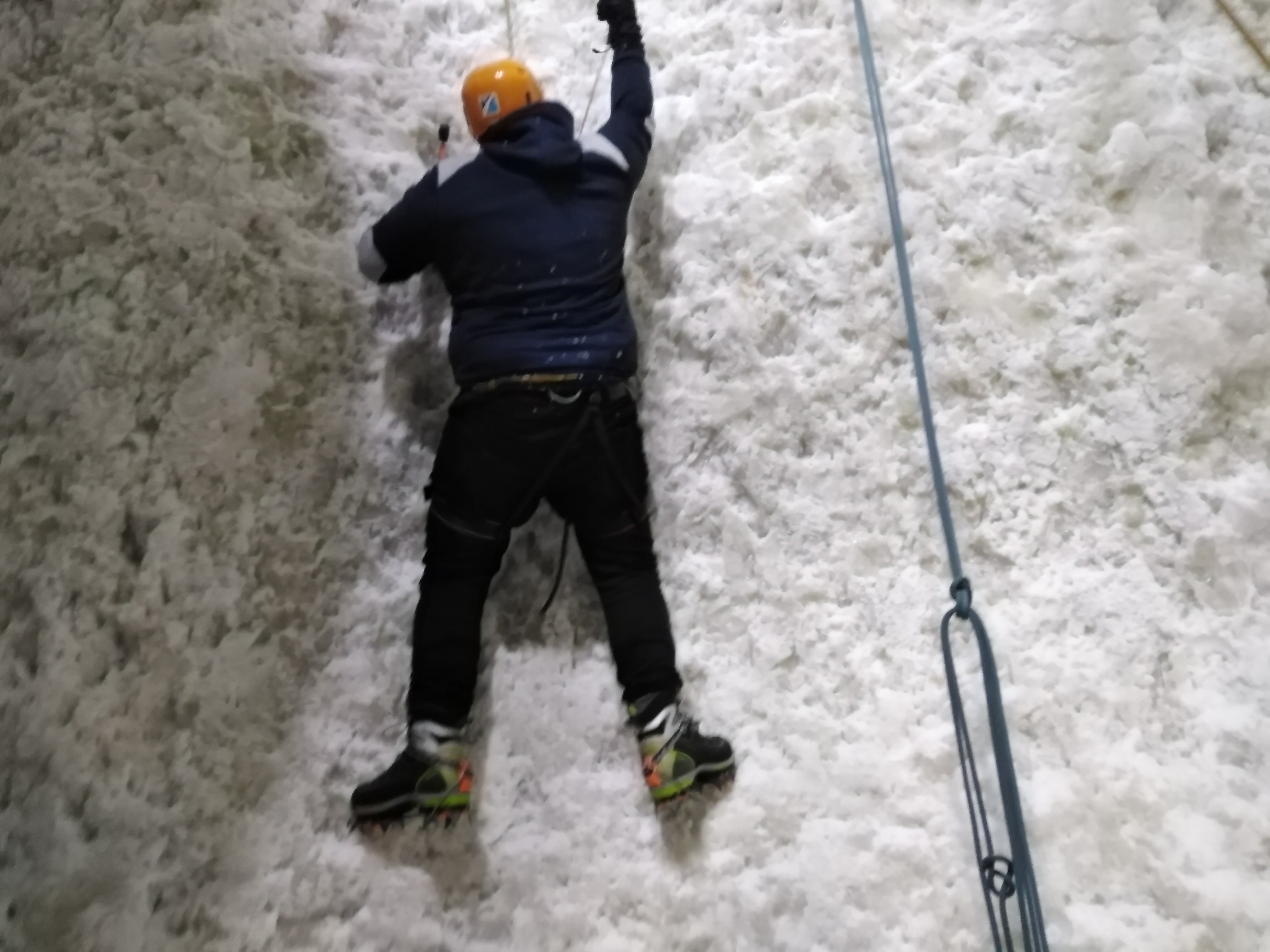Climbing at the Ice Factory